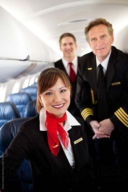 Airplane: Focus on Flight Attendant by Sean Locke for Stocksy United