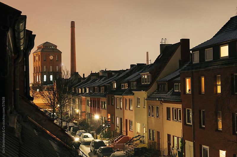 Slaughterhouse Bremen at night by Urs Siedentop & Co for Stocksy United
