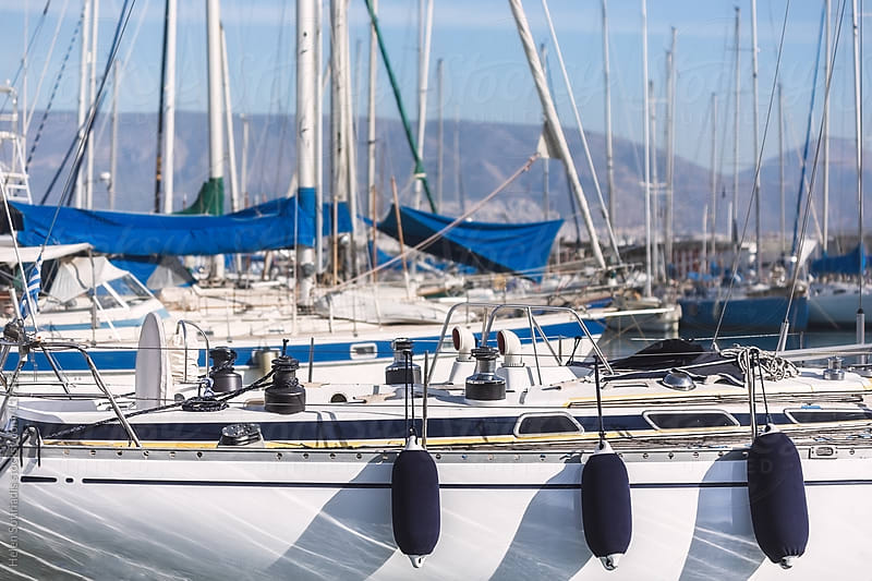 Boats in a Marina by Helen Sotiriadis for Stocksy United
