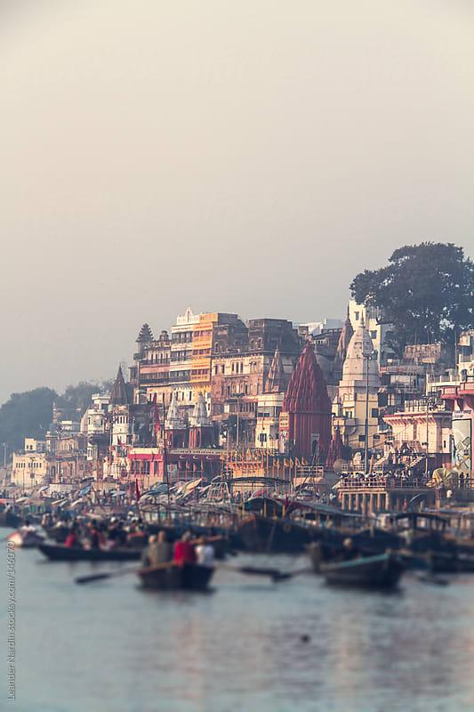 Riverside of Varanasi by Leander Nardin for Stocksy United