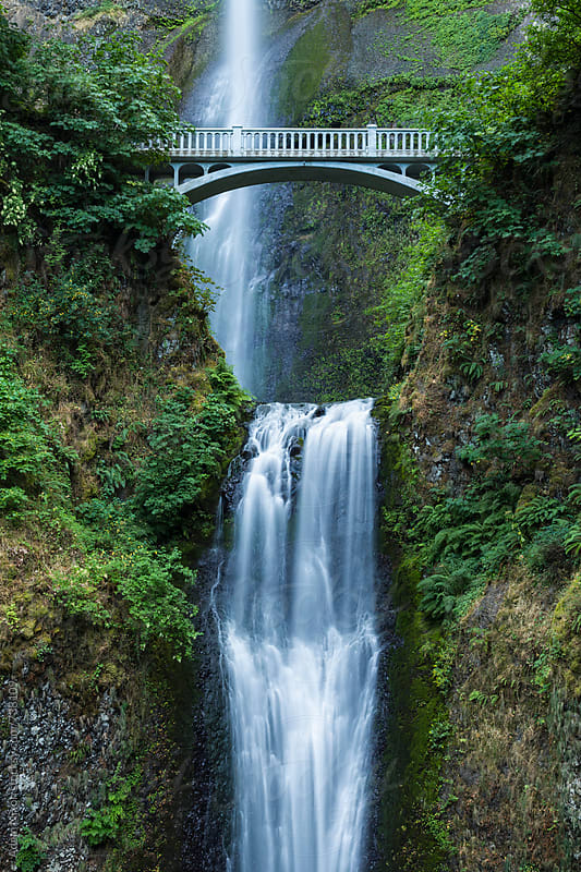 Multnomah Falls, Columbia River Gorge, Oregon by Adam Nixon for Stocksy United
