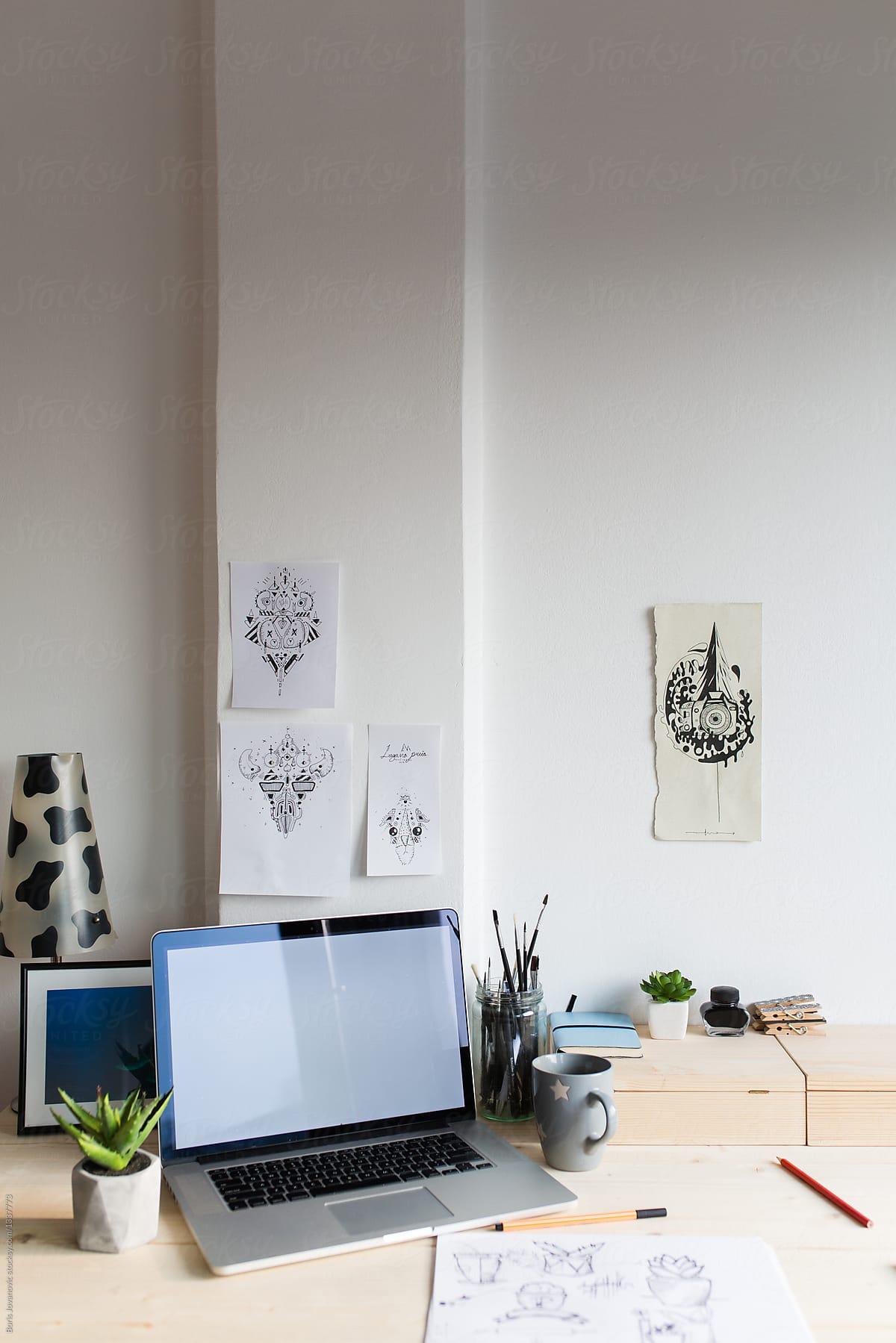Desk Setup Of A Graphic Designer By Boris Jovanovic