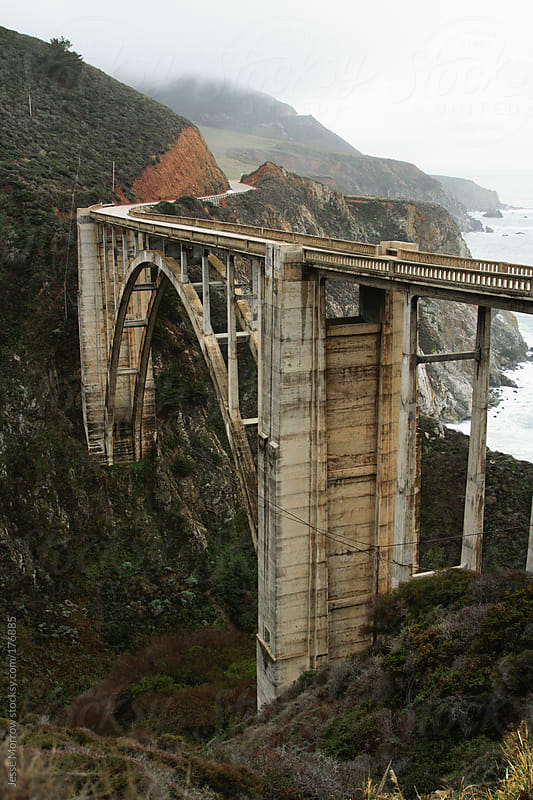 the bixby canyon bridge  by Jesse Morrow for Stocksy United