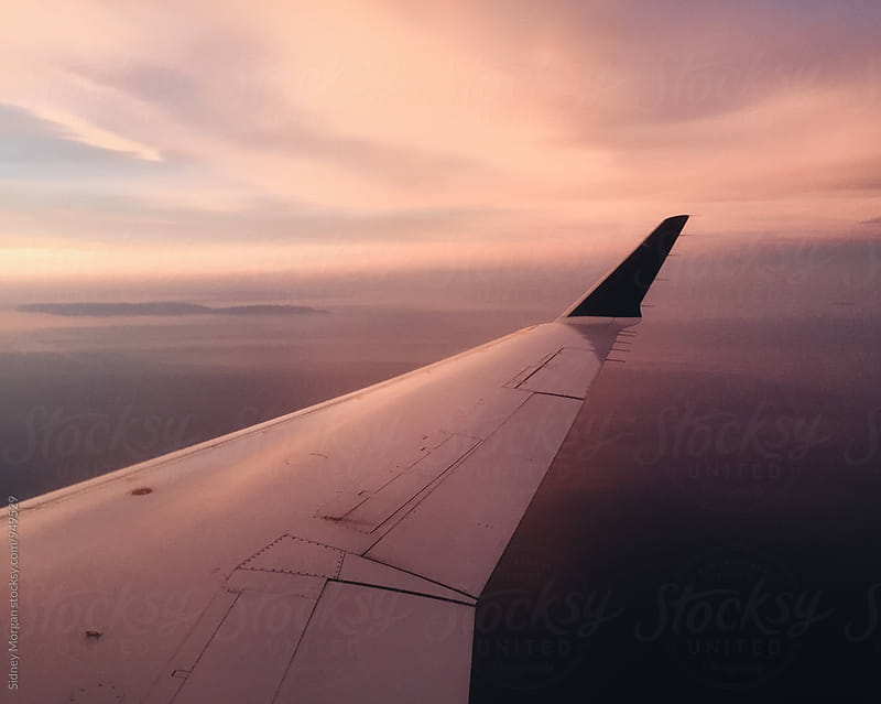 Sunset from a Plane by Sidney Morgan for Stocksy United