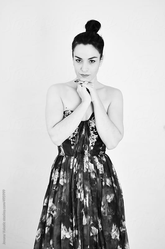 Pretty woman in studio by Jovana Vukotic for Stocksy United
