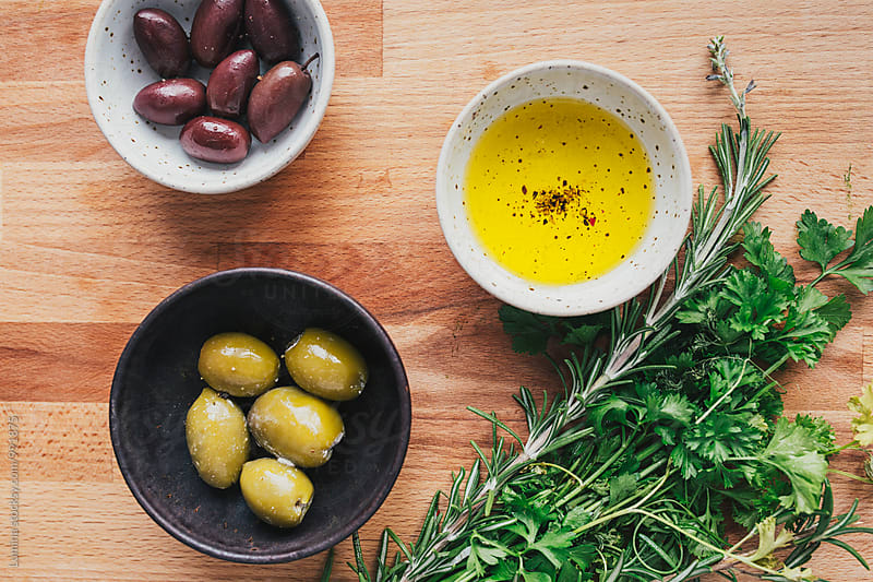 Olives, Parsley and Rosemary by Lumina for Stocksy United