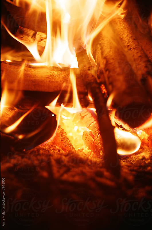 A film photo of a fire by Anna Malgina for Stocksy United