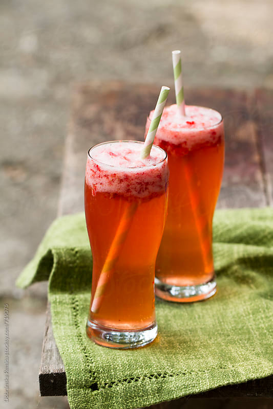 Strawberry cocktail by Dobránska Renáta for Stocksy United