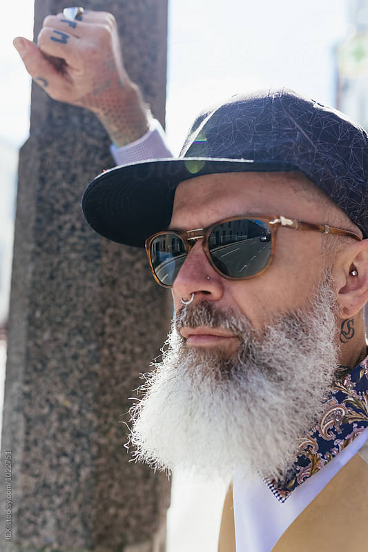 Eccentric Stylish Man Portrait in the City by HEX . for Stocksy United