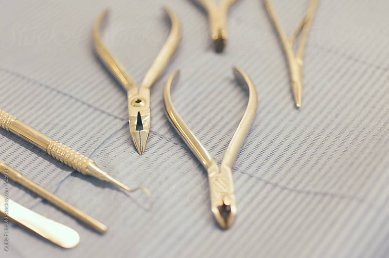 Sterilized dental instruments. by Guille Faingold for Stocksy United