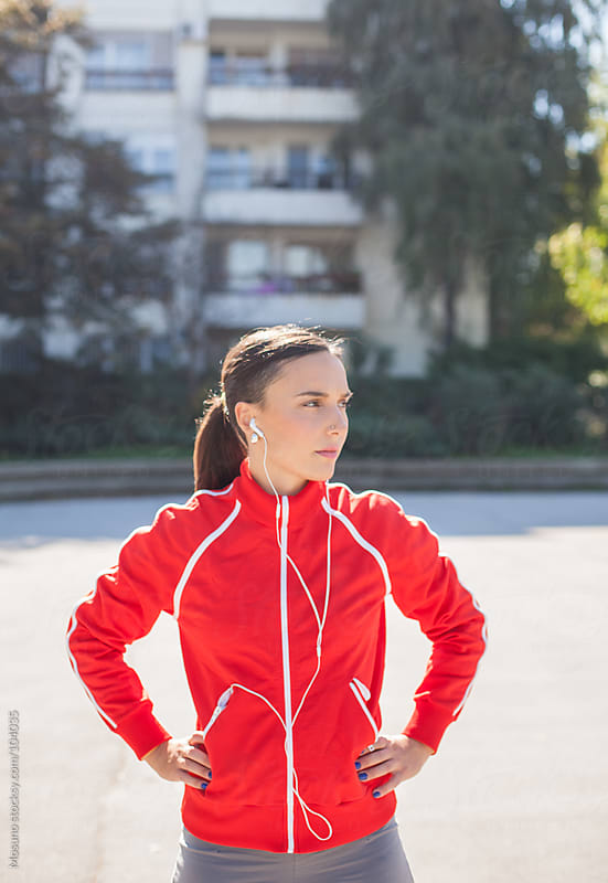 Woman Dressed for Jogging by Mosuno for Stocksy United