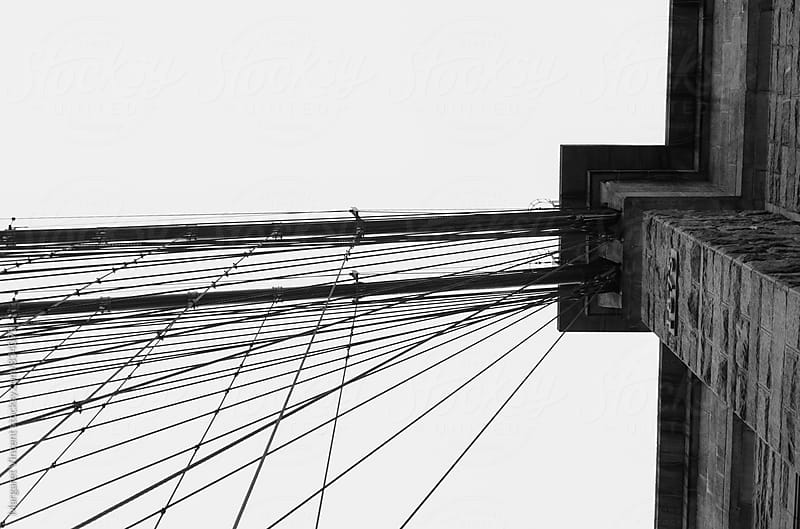 Brooklyn Bridge, where the cables come together by Margaret Vincent for Stocksy United