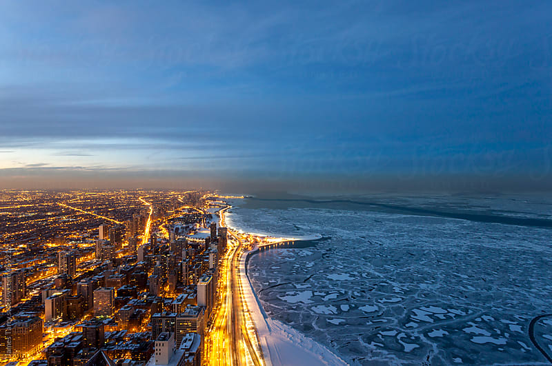 Chicago in Winter by James Tarry for Stocksy United