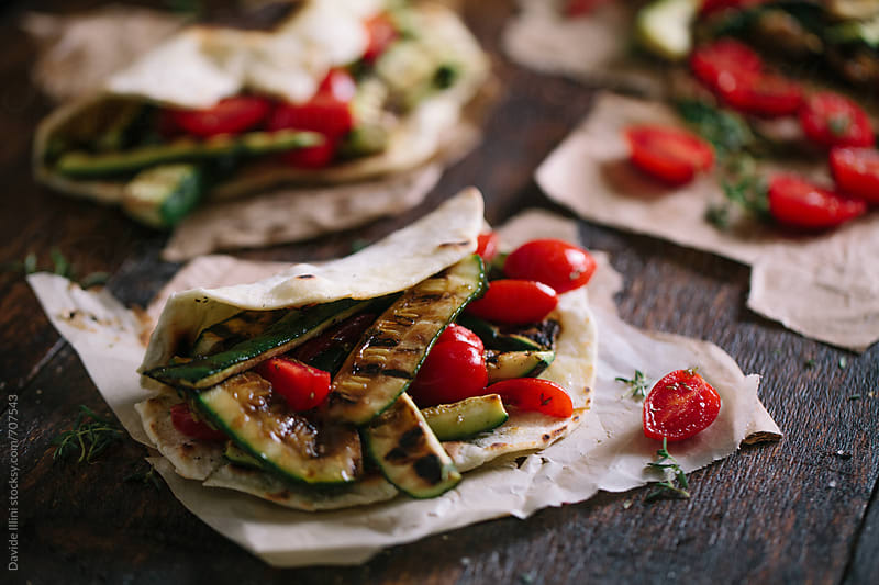 Italian vegetarian piadina by Davide Illini for Stocksy United