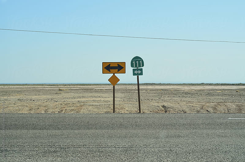 Sign, Salton Sea, CA by Shannon Aston for Stocksy United