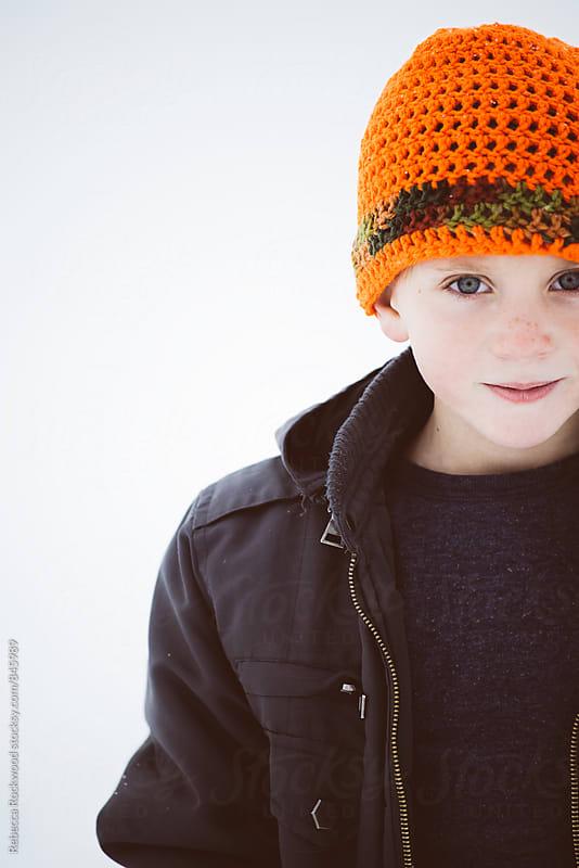 boy portrait by Rebecca Rockwood for Stocksy United