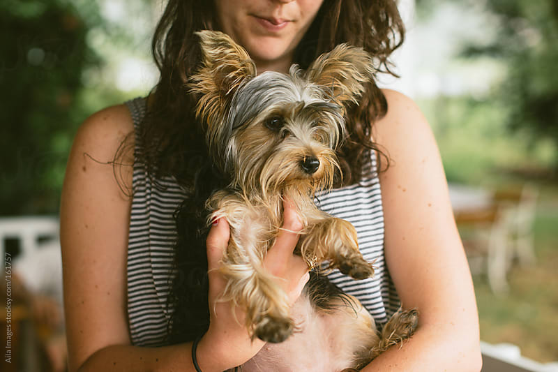 Cute Girl and Dog by Aila Images for Stocksy United