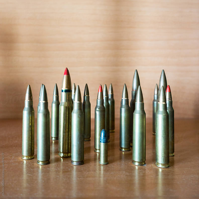 Different types of bullets by ACALU Studio for Stocksy United