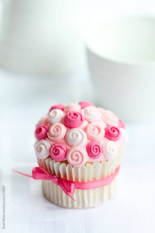 Rose cupcake by Ruth Black for Stocksy United