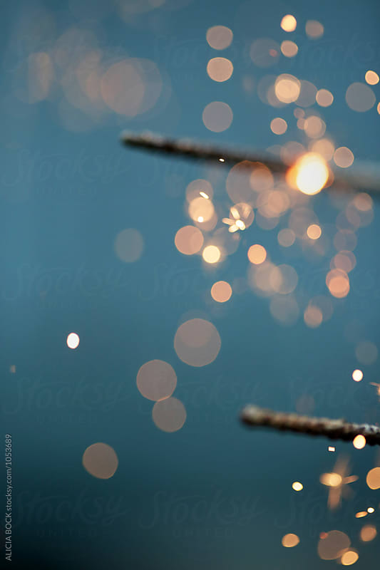Close Up Of Fourth Of July Sparklers by ALICIA BOCK for Stocksy United