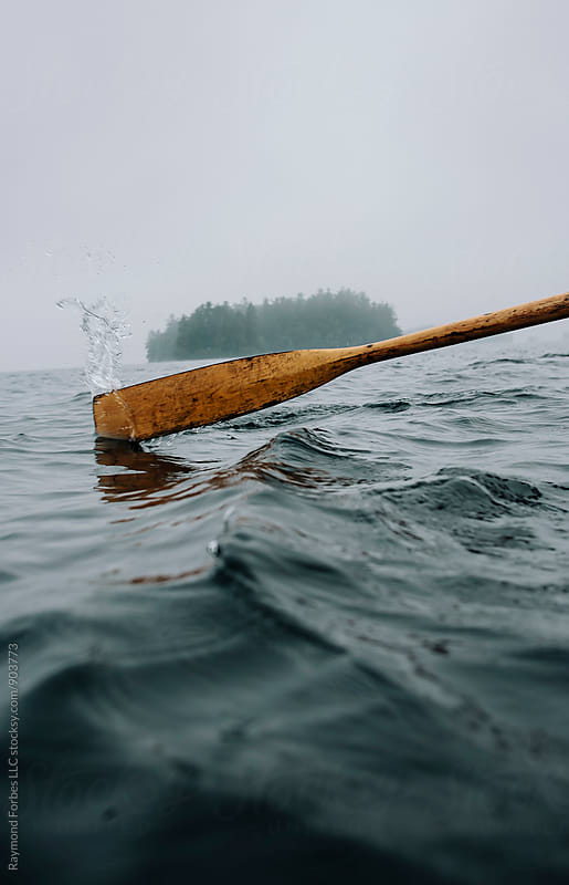 Oar in Water by Raymond Forbes LLC for Stocksy United