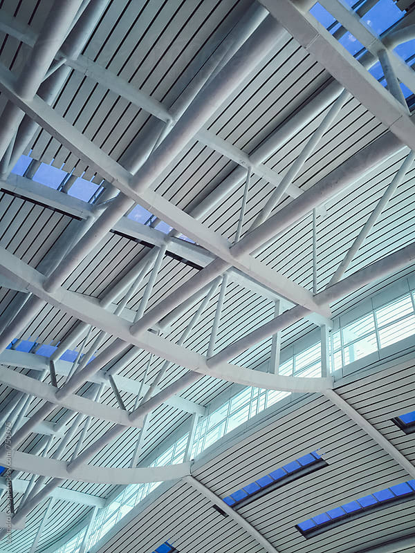 An airport ceiling by Leandro Crespi for Stocksy United