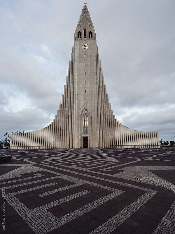 Hallgrímskirkja church in reykjavik by Juri Pozzi for Stocksy United