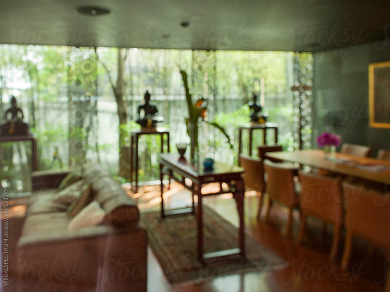 Asian Living Room Defocused by VISUALSPECTRUM for Stocksy United