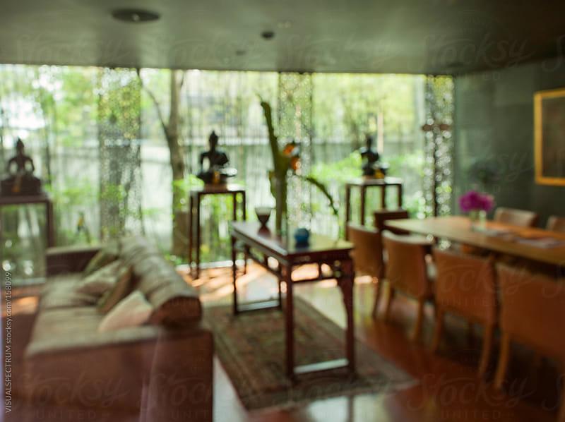 Asian Living Room Defocused by VISUALSPECTRUM for Stocksy United
