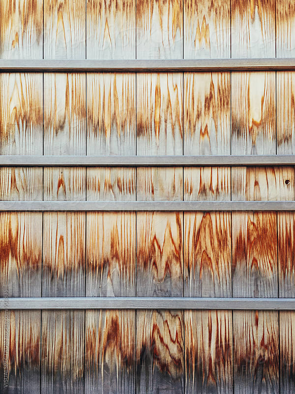Weathered Wood on Japanese Door by VISUALSPECTRUM for Stocksy United