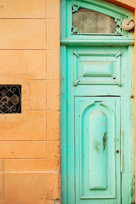 Colorful old door  by Natasa Kukic for Stocksy United