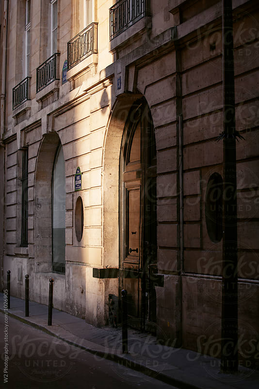 Beam of sunlight on Paris street. by W2 Photography for Stocksy United