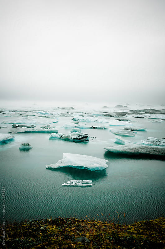 Glacial lake on Iceland by Chris Zielecki for Stocksy United