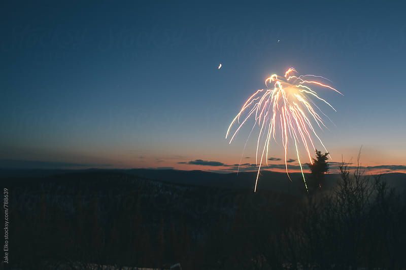 Ester Dome Fireworks 1 by Jake Elko for Stocksy United