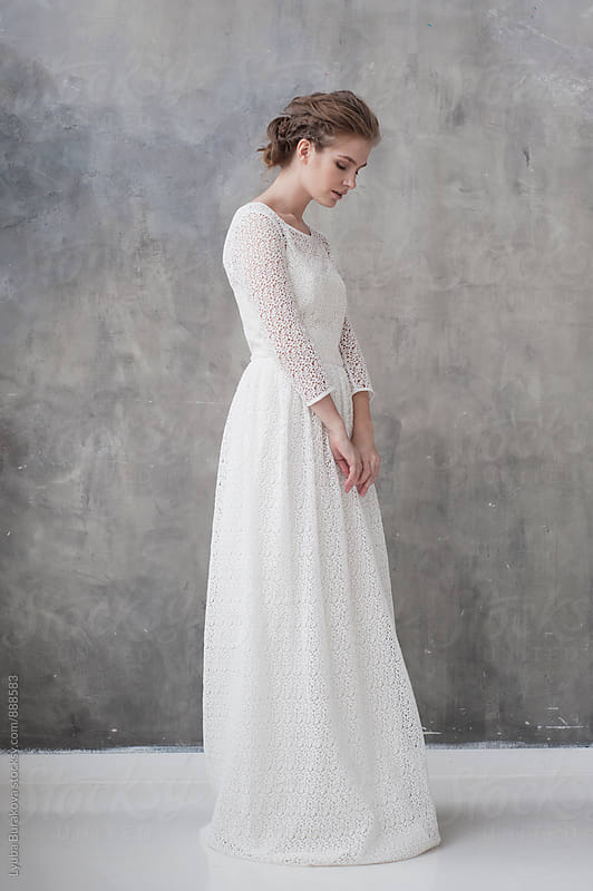 Bride in a studio by Lyuba Burakova for Stocksy United