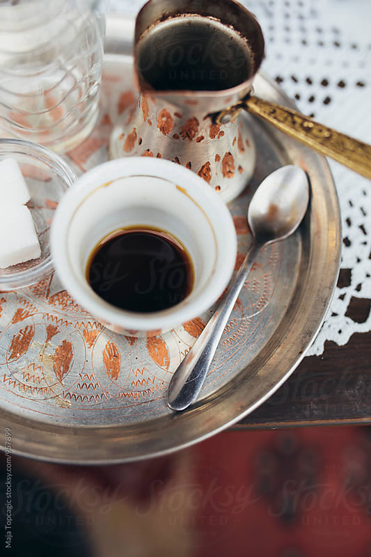 Traditional homemade bosnian coffee by Maja Topcagic for Stocksy United