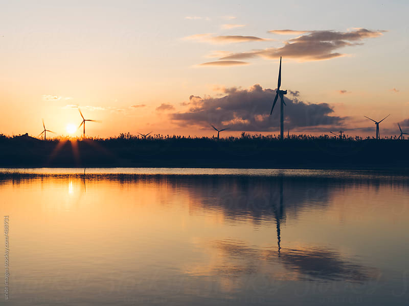 wind turbines  by unite images for Stocksy United