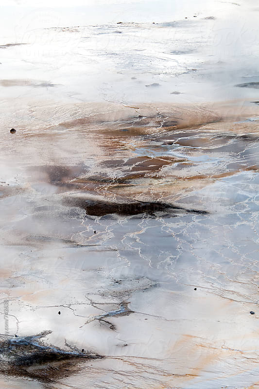 Steamy Hot Springs At Norris Geyser Basin In Yellowstone National Park by Luke Mattson for Stocksy United