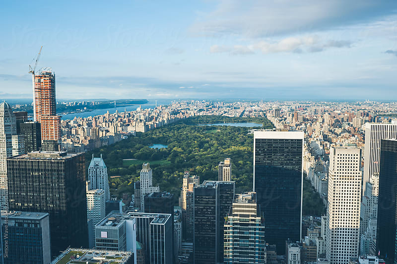 View of New York City and Central Park by GIC for Stocksy United
