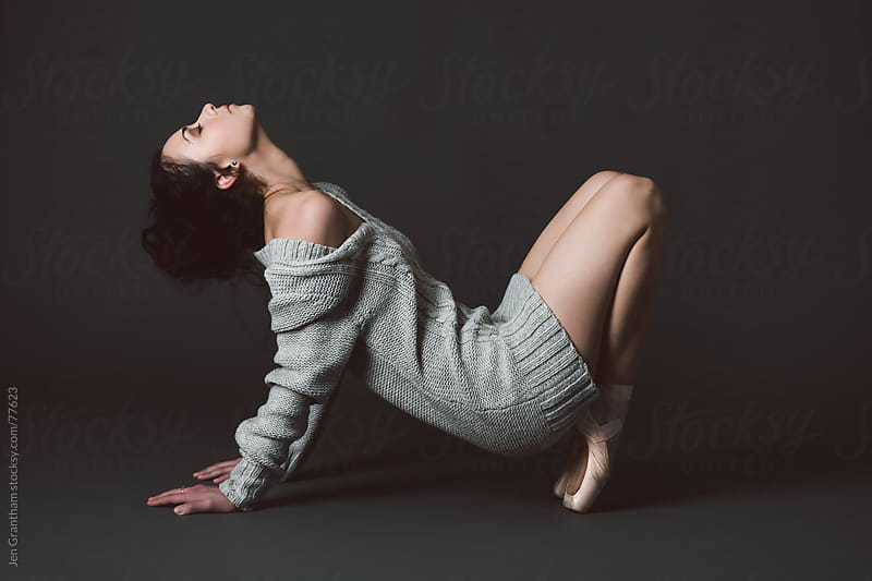 Studio portrait of female dancer by Jen Grantham for Stocksy United