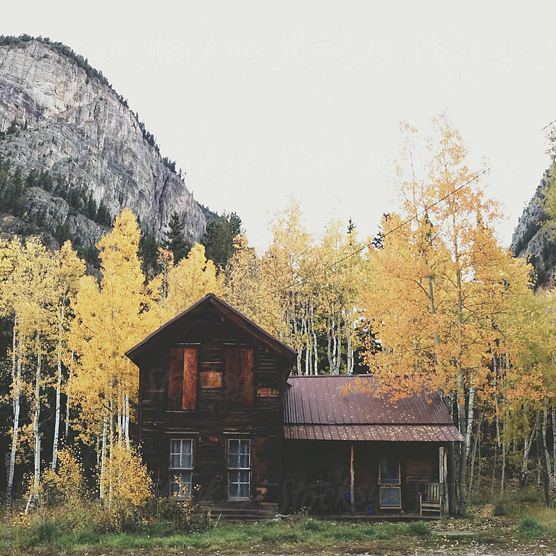 Fall Crystal Mountain Cabin by Kevin Russ for Stocksy United