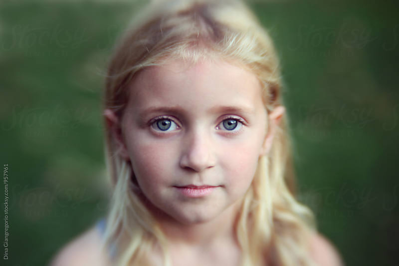 Soft Portrait Of Young Blonde Girl by Dina Giangregorio for Stocksy United