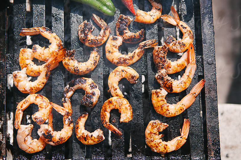 Grilled shrimps  by Ani Dimi for Stocksy United