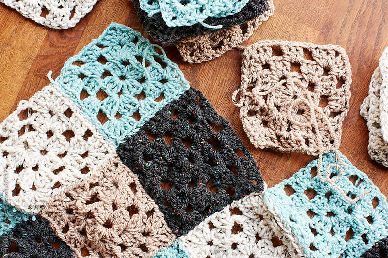 Making a crochet blanket by Harald Walker for Stocksy United