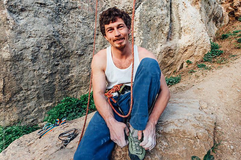 Rock climber by Dimitrije Tanaskovic for Stocksy United