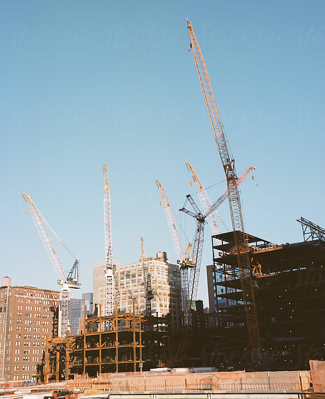 Tower Cranes In Manhattan by Cameron Whitman for Stocksy United