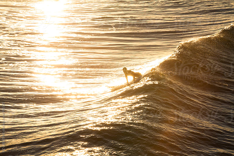 Surfer at sunrise. by RZ CREATIVE for Stocksy United