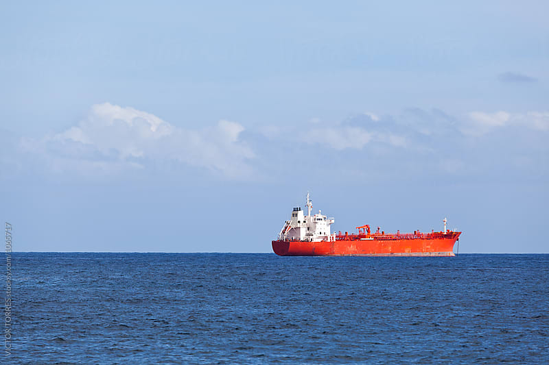 Chemical Tanker in the Atlantic Ocean by Victor Torres for Stocksy United