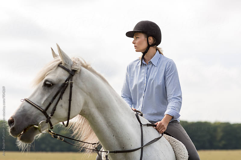 Woman on a Horse by Ann-Sophie Fjelloe-Jensen for Stocksy United