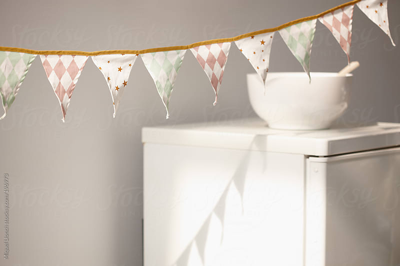 Pennant ornament for a home celebration by Miquel Llonch for Stocksy United